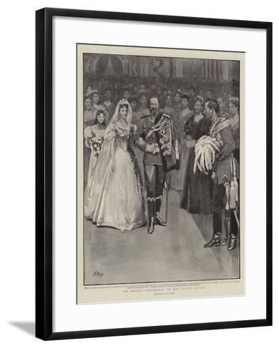 The Bride's Procession to the Court Chapel-Henry Marriott Paget-Framed Art Print