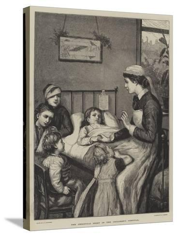 The Christmas Story in the Children's Hospital-Henry Robert Robertson-Stretched Canvas Print