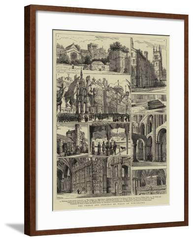 The Prince and Princess of Wales at Winchester-Henry William Brewer-Framed Art Print