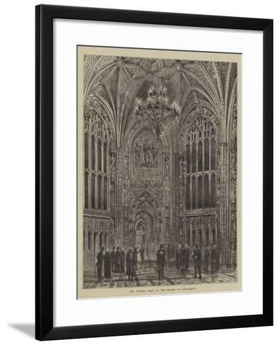 The Central Hall of the Houses of Parliament-Henry William Brewer-Framed Art Print