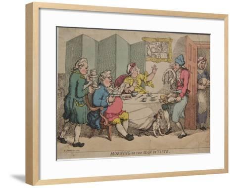 Morning or the Man of Taste, 1781-Henry William Bunbury-Framed Art Print