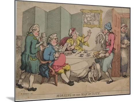 Morning or the Man of Taste, 1781-Henry William Bunbury-Mounted Giclee Print