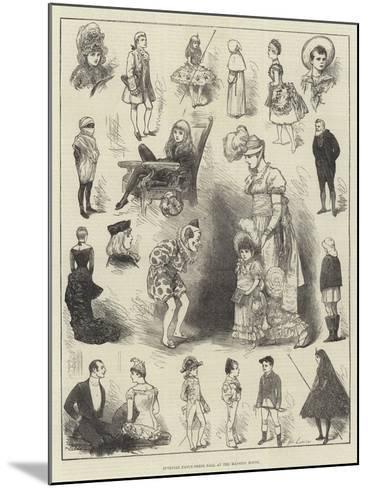 Juvenile Fancy-Dress Ball at the Mansion House-Henry Stephen Ludlow-Mounted Giclee Print