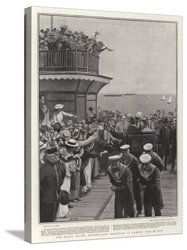 The King's Cruise, Enthusiastic Reception at Ramsey, Isle of Man-Henry Marriott Paget-Stretched Canvas Print