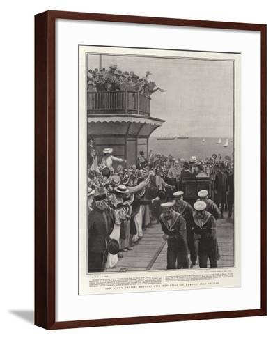 The King's Cruise, Enthusiastic Reception at Ramsey, Isle of Man-Henry Marriott Paget-Framed Art Print