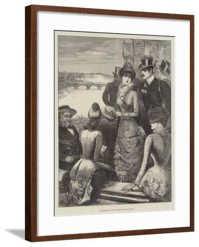 Attractions of the Boat-Race-Henry Stephen Ludlow-Framed Art Print