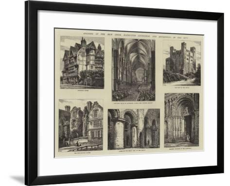 Opening of the New Choir, Rochester Cathedral and Antiquities in the City-Henry William Brewer-Framed Art Print