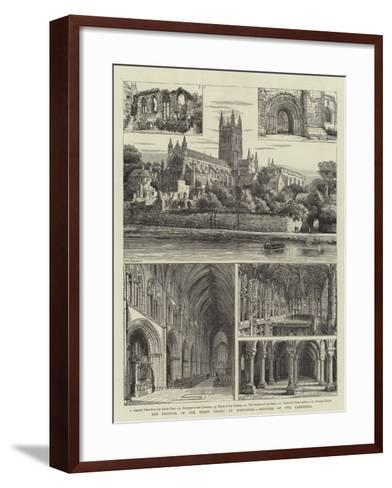 The Festival of the Three Choirs at Worcester, Sketches of the Cathedral-Henry William Brewer-Framed Art Print