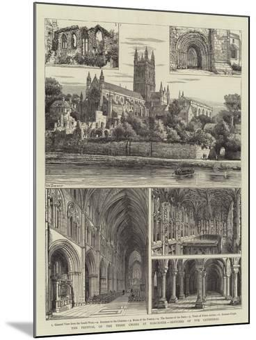 The Festival of the Three Choirs at Worcester, Sketches of the Cathedral-Henry William Brewer-Mounted Giclee Print