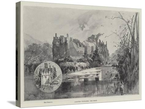 Compton Wynyates, the Moat-Herbert Railton-Stretched Canvas Print
