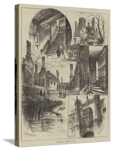 Sketches at Hampton Court-Herbert Railton-Stretched Canvas Print