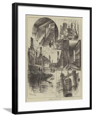 Sketches at Hampton Court-Herbert Railton-Framed Art Print