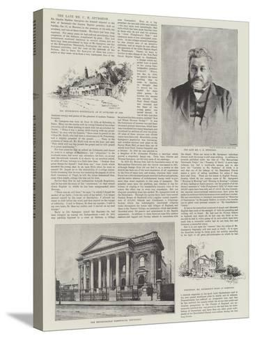 The Late Mr C H Spurgeon-Herbert Railton-Stretched Canvas Print
