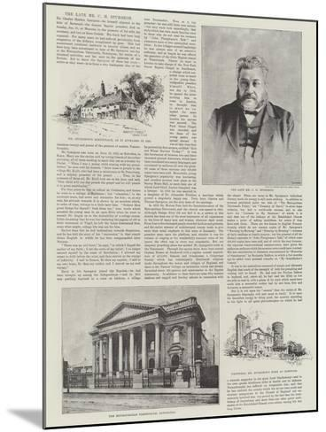 The Late Mr C H Spurgeon-Herbert Railton-Mounted Giclee Print
