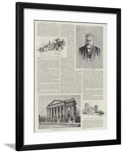 The Late Mr C H Spurgeon-Herbert Railton-Framed Art Print