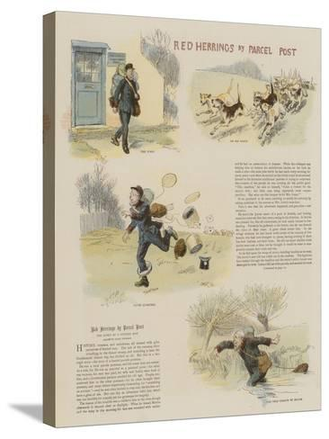 Red Herrings by Parcel Post-Hugh Thomson-Stretched Canvas Print