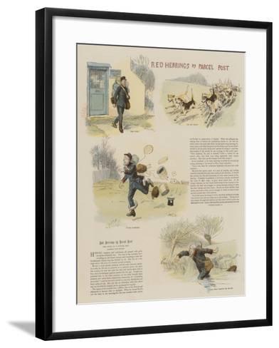 Red Herrings by Parcel Post-Hugh Thomson-Framed Art Print