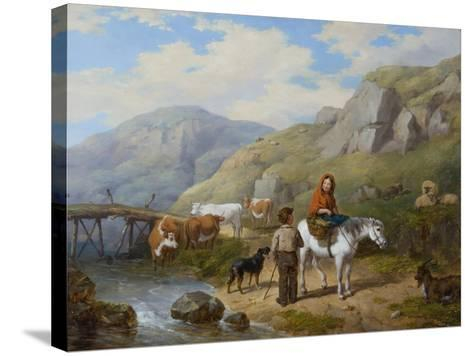 Wayside Gossip, 1846-Isaac Henzell-Stretched Canvas Print