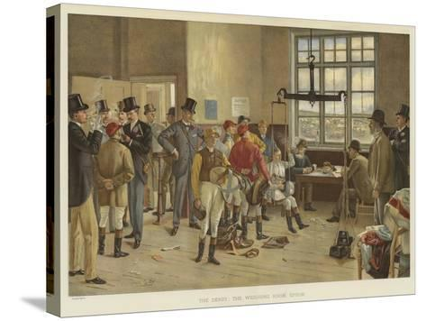 The Derby, the Weighing Room, Epsom-Isaac J. Cullin-Stretched Canvas Print