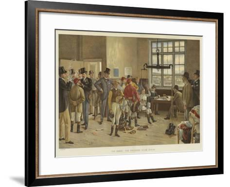 The Derby, the Weighing Room, Epsom-Isaac J. Cullin-Framed Art Print