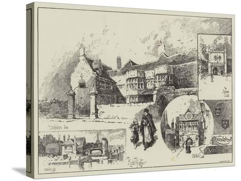 Round About Norwich-Herbert Railton-Stretched Canvas Print