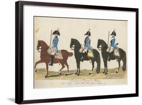 Carl Von Huyne's Dragoner Regiment, Hesse-Cassel, C.1784-J. H. Carl-Framed Art Print