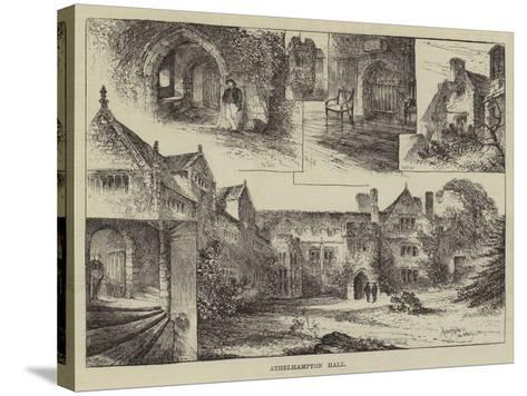 Athelhampton Hall-Herbert Railton-Stretched Canvas Print