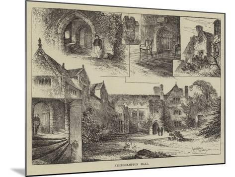 Athelhampton Hall-Herbert Railton-Mounted Giclee Print