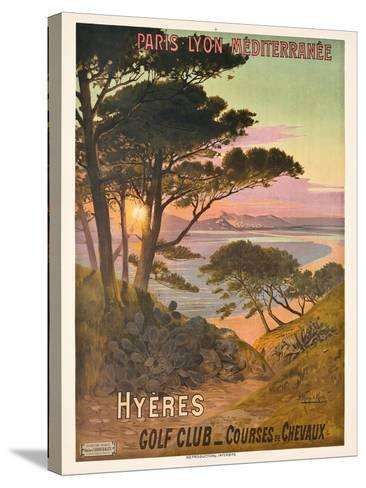 Poster Advertising Hyeres, France, C.1900-Hugo D' Alesi-Stretched Canvas Print