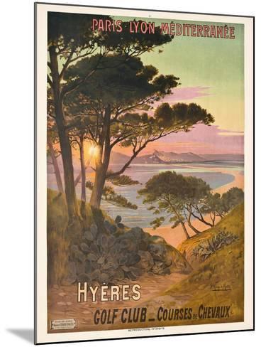 Poster Advertising Hyeres, France, C.1900-Hugo D' Alesi-Mounted Giclee Print