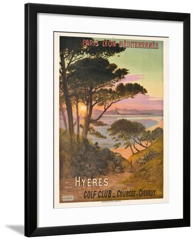 Poster Advertising Hyeres, France, C.1900-Hugo D' Alesi-Framed Art Print
