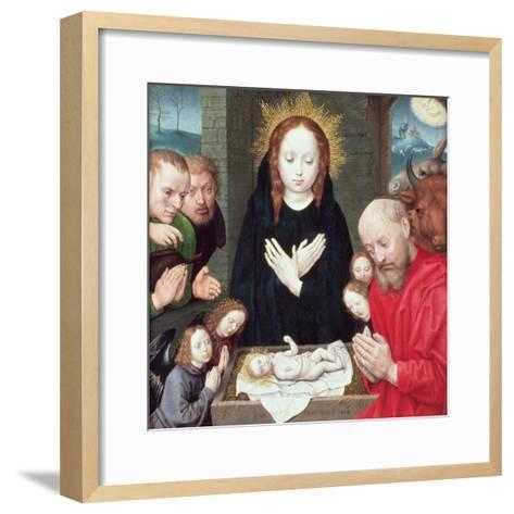 Adoration of the Shepherds-Hugo van der Goes-Framed Art Print