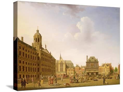 Dam Square - Amsterdam, 1782-Isaak Ouwater-Stretched Canvas Print