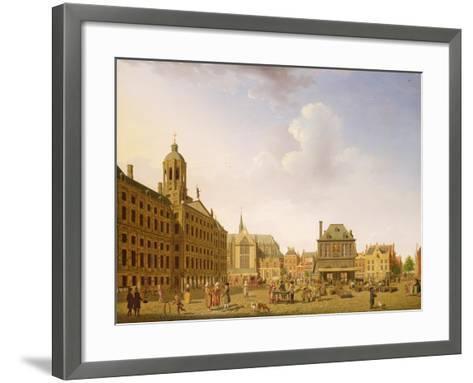 Dam Square - Amsterdam, 1782-Isaak Ouwater-Framed Art Print
