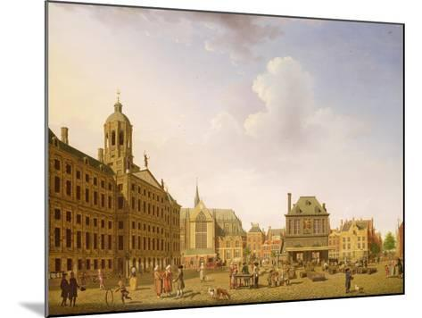 Dam Square - Amsterdam, 1782-Isaak Ouwater-Mounted Giclee Print