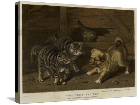 The First Meeting-Horatio Henry Couldery-Stretched Canvas Print