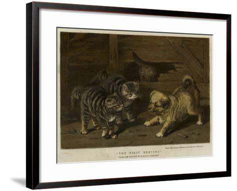 The First Meeting-Horatio Henry Couldery-Framed Art Print