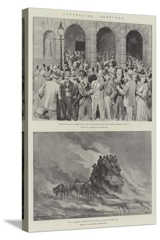 Australian Sketches-J. Macfarlane-Stretched Canvas Print