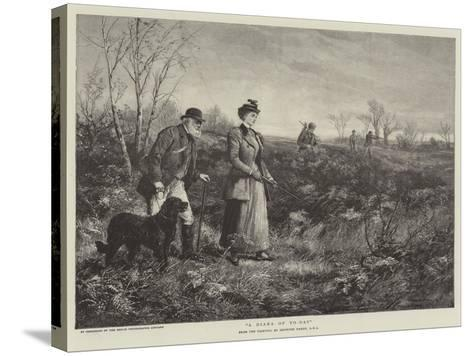 A Diana of To-Day-Heywood Hardy-Stretched Canvas Print