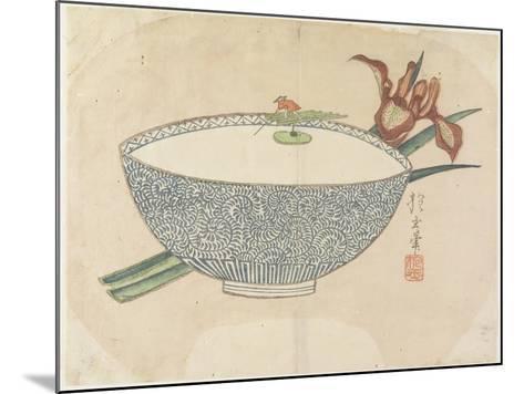 Bowl of Water with Tiny Boatman Floating, C. 1830- Hogyoku-Mounted Giclee Print