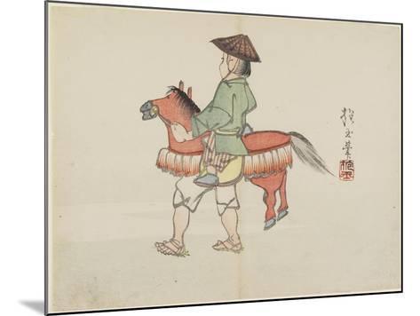 (Street Performer with Horse Costume), C. 1830- Hogyoku-Mounted Giclee Print