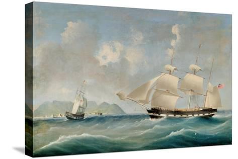 Seascape, 1850-I. Tudgay-Stretched Canvas Print