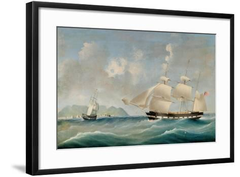 Seascape, 1850-I. Tudgay-Framed Art Print