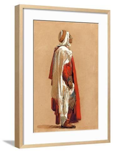 Study of a Man in Oriental Costume-Isidore Pils-Framed Art Print