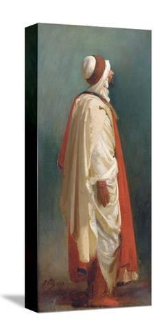 Study of an Arab Standing-Isidore Pils-Stretched Canvas Print