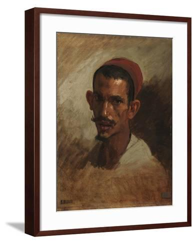 Study for the Head of a Young Arab, C.1860-62-Isidore Pils-Framed Art Print