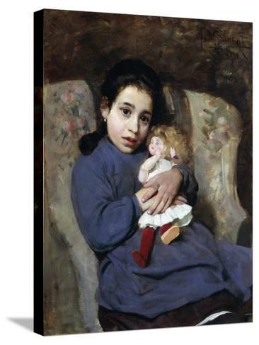 The Doll, 1891-Isidoro Grunhut-Stretched Canvas Print