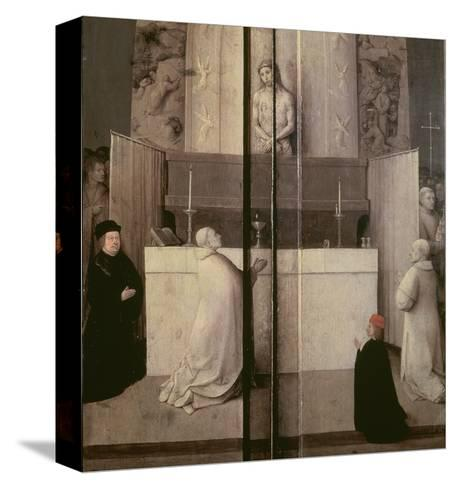 Detail of the Legend of the Mass of St. Gregory-Hieronymus Bosch-Stretched Canvas Print
