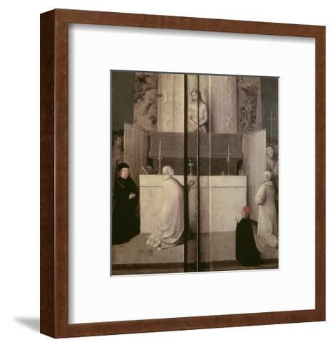 Detail of the Legend of the Mass of St. Gregory-Hieronymus Bosch-Framed Art Print