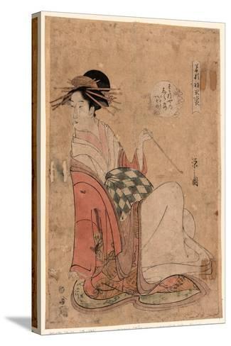 Wakanaya Uchi Shiratsuyu-Hosoda Eishi-Stretched Canvas Print